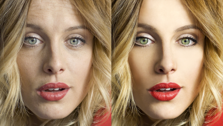 Woman retouch by SatelliteAlice