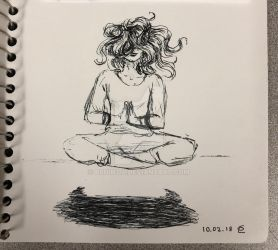 Day 2 Inktober 2018 Tranquil by Bruin314