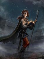 Maydah Amoung the Ruins (by SirTiefling) by jonwassing