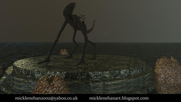 Xenomorph realtime animation by Mick2006