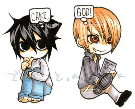 DeathNote chibis 1 by nHnF