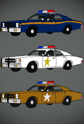 70's Rural Police Cars by generalrusty78