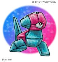 #137 Porygon by Bafa