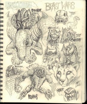 Beast Wars sketches by KaijuSamurai