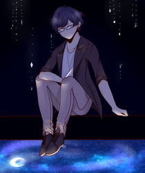 In this starry sky. by AkiZeruFalls