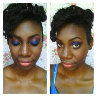 Bold Eyes With Nude Lips by Divina-H-ART