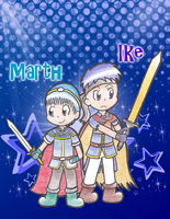 Marth and Ike by Candy-Swirl