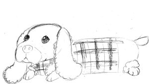 kawaii sussex spaniel pencil case design by NanakoHarrison