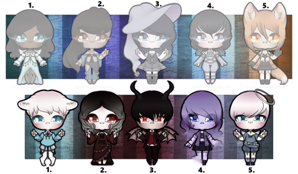 Adoptables 5: Fantastical Chibis [CLOSED] by Insomnolent-Adopts