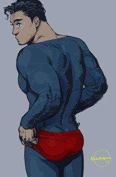 young Clark in his Red shorts by Ricken-Art