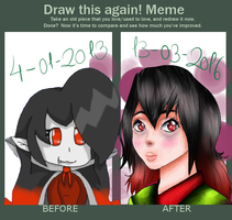 .:Meme:. Before-after~Draculina! by Nite3007