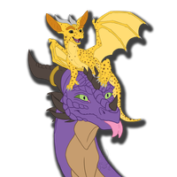 *Sits on head* by Gold-Horned-Alpha