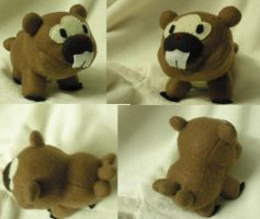 Bidoof Plushie Commission by Glacideas