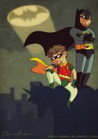 Batman and Robin Commission by DrewGreen