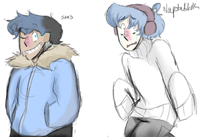 Undertale Human forms by Crummy-Juncture