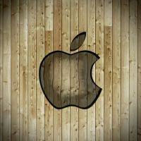 iPad Apple Wallpaper Wood by thekingofthevikings