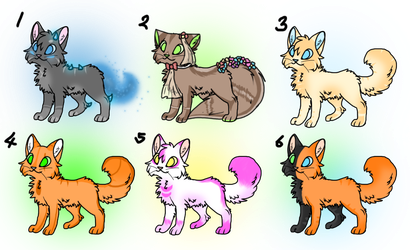 Cheap cat adopts ! [Open] {4/6} by xBlackFluff