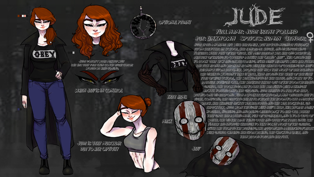 {Reference Sheet} Jude [2017 Edition] by SlenderSpawn
