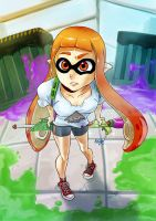 Splatoon's Inkling by Comadreja