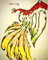 Ho-oh Tribal Art by T40Productions