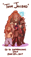 DnD - Team Jailbird Anniversary Portrait! by oddsocket