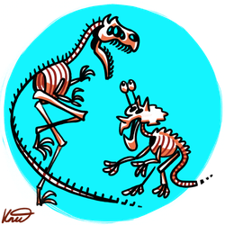 Dino Skellies by kittyninjafish