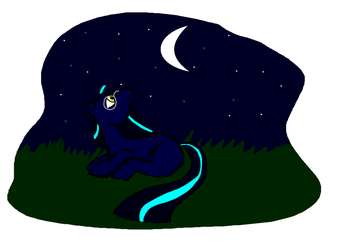 Moongazer Gazing at the Moon by MoonGazerThePony