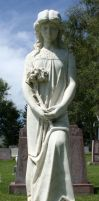 Mount Olivet Cemetery Woman 204 by Falln-Stock