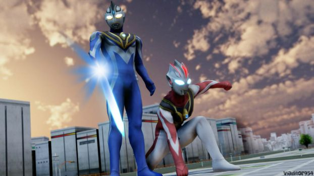 Ultraman Terra : Master And Apprentice by viaditor954