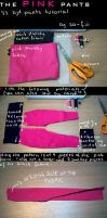 the pink pants-TUTORIAL by so-fiii