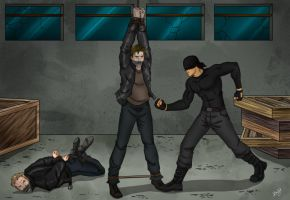 The Ranskahov brothers captured by Daredevil by Carnath-gid
