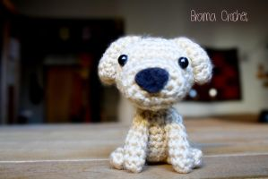 Schizzo! Kawaii Amigurumi dog plush by BramaCrochet