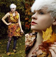 MAPLE LEAF DRESS 2 by yellowpin