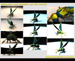 3d Wasp Progress Collage by TheInsaneDingo