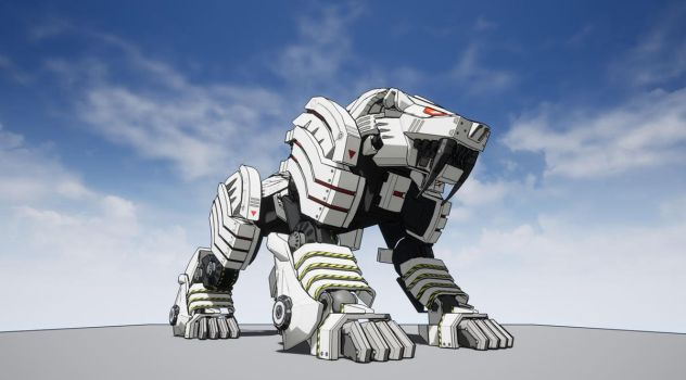 Brastle Tiger with Toon Shader by 7he1ndigo