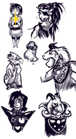 Undertale sketches by KebabPekoniRulla