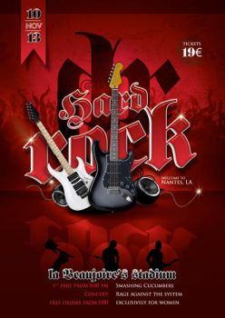 Hard Rock Concert Flyer by n2n44