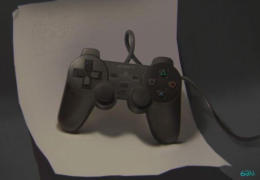 Playstation Controller life study by teyoliia