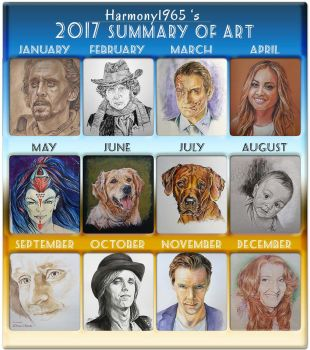 2017 Summary of Art by Harmony1965