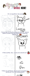 Double Art Meme with Warrior-Cats-Girl14 by o0STARCHASER0o