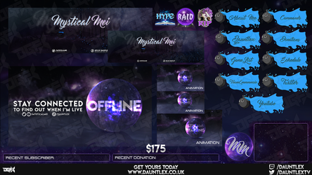 MysticalMei Twitch Stream set by DauntlexGFX