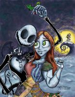 Jack and Sally color mode by ravensdojo