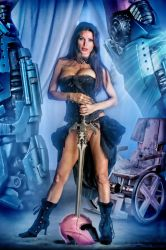 X-painted Tina Casciani as Lady Selene by childlogiclabs