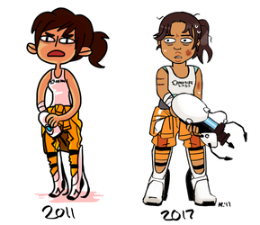 Chell Redraw by ambercragg