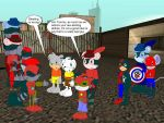 Tommy and Ricky encounter the mecha Revengers by YRT9401