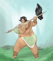 Bashi and her axe by Fimif