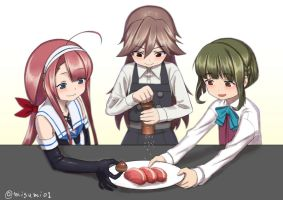 Cuisine to cooperate by misumi-illustration