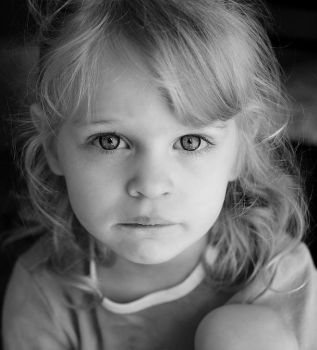 Hannah in black and white by schoolbookdepository