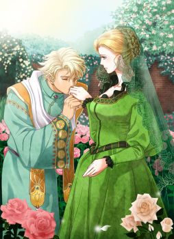 Saga Frontier 2 /At a rose garden by nemling