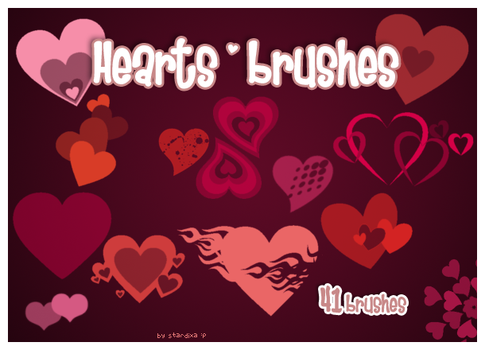Hearts brushes by stardixa